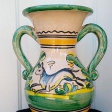Antigüedades: JARRA DE CERAMICA - PODRIA SER DE PUENTE DEL ARZOBISPO - LIEBRE. Lote 195299523