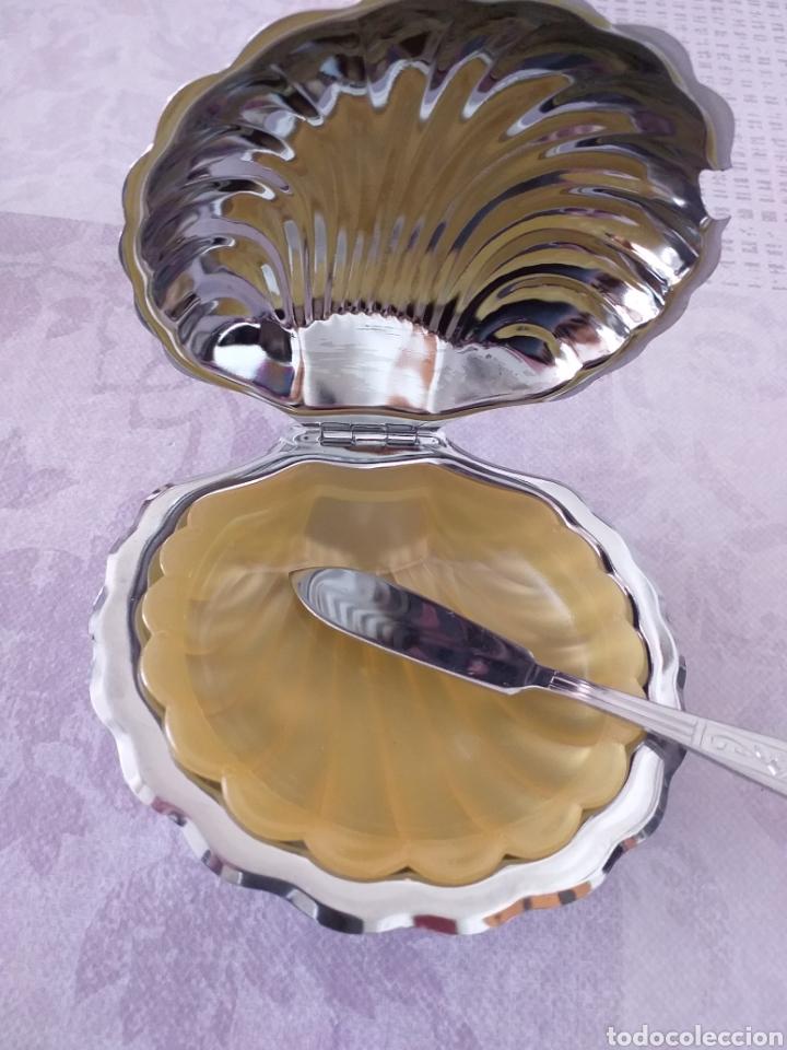 Antigüedades: Mantequillero de acero - Foto 2 - 195301758