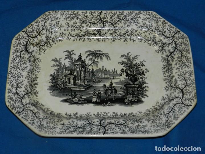 (M) BANDEJA ANTIGUA PICKMAN Y CIA SEVILLA, 34,5X26X3,5CM, BUEN ESTADO (Antigüedades - Porcelanas y Cerámicas - La Cartuja Pickman)