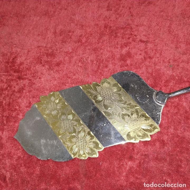 Antigüedades: LOTE DE 5 CUBIERTOS DE SERVIR. METAL CHAPADO EN PLATA. ESPAÑA. SIGLOS XIX-XX - Foto 16 - 195303980