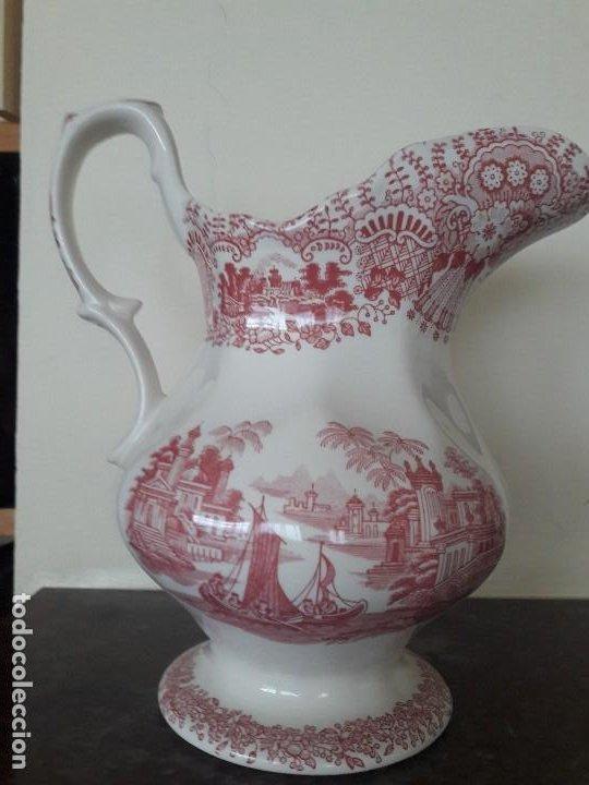 IMPECABLE JARRA LA CARTUJA PICKMAN. ESTAMPADO ROSA. CON MARCA (Antigüedades - Porcelanas y Cerámicas - La Cartuja Pickman)