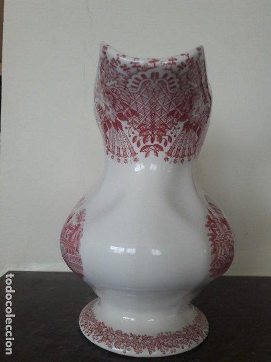 Antigüedades: Impecable jarra la Cartuja Pickman. Estampado rosa. Con marca - Foto 4 - 195304162
