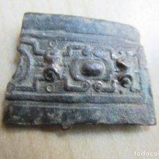 Antigüedades: TROZO DE PLACA DE BRONCE POSIBLE S XVIII-XIX . Lote 195306335