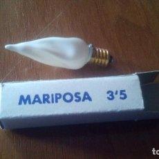 Antigüedades: BOMBILLA ANTIGUA - MARIPOSA 3,5, CON SU ESTUCHE. Lote 195317490