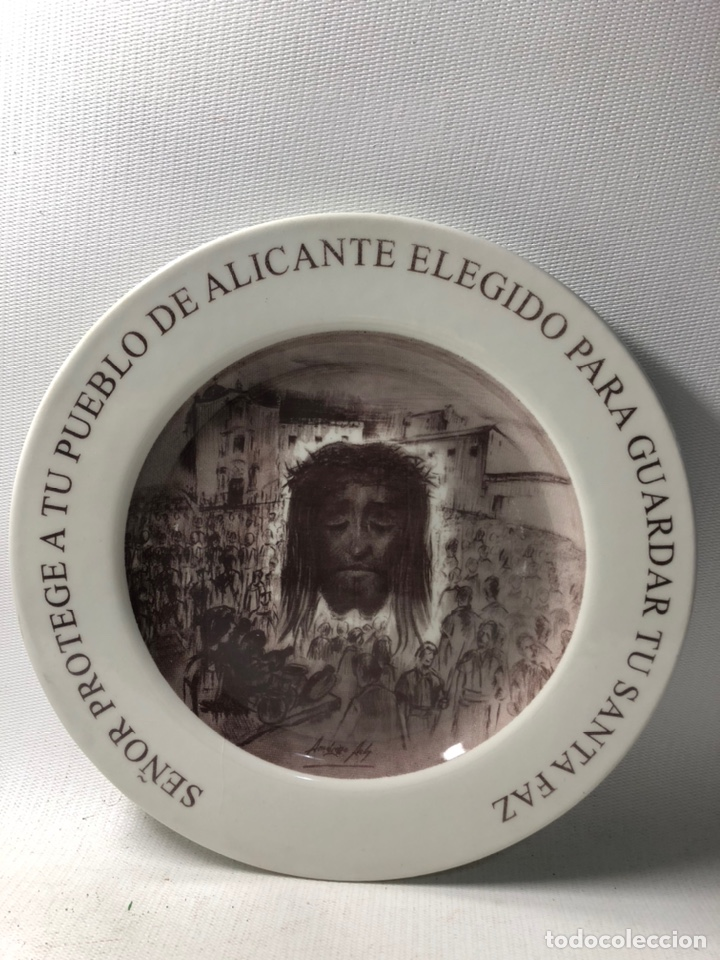 PLATO DECORATIVO ··· SANTA FAZ ··· ALICANTE ··· 2005 ··· (Antigüedades - Hogar y Decoración - Platos Antiguos)