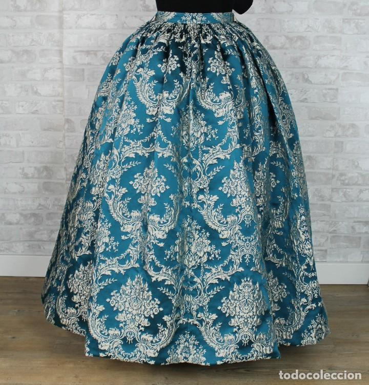 FALDA BROCADA PARA INDUMENTARIA TRADICIONAL (Antigüedades - Moda y Complementos - Mujer)