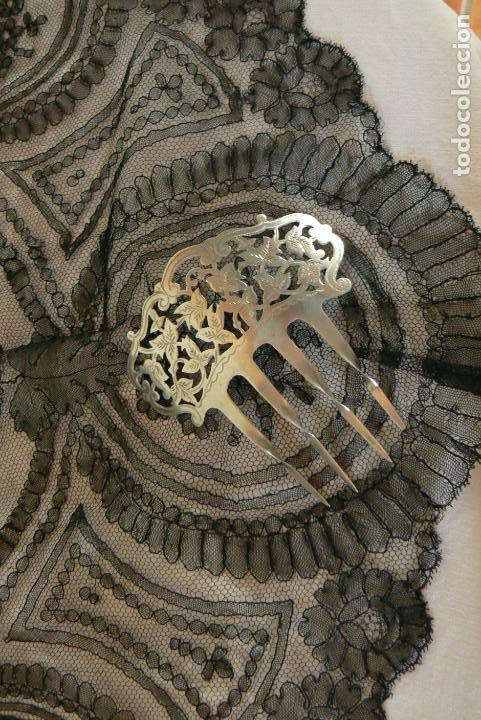 ANTIGUA PEINETA DE PLATA (Antigüedades - Moda - Peinetas Antiguas)