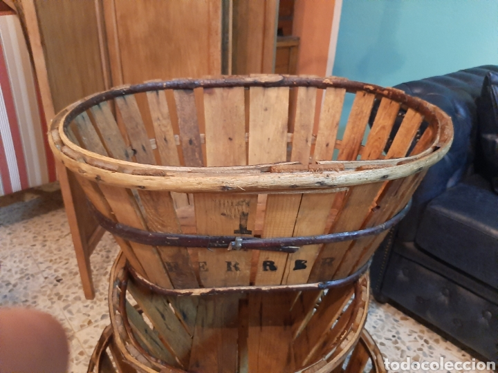 Antigüedades: Lote 3 barquillas/cajas madera - Foto 4 - 195319585