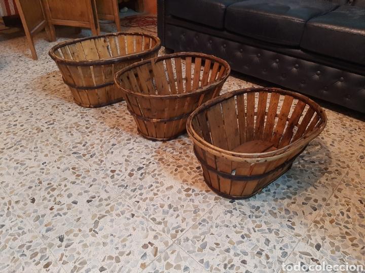 LOTE 3 BARQUILLAS/CAJAS MADERA (Antigüedades - Técnicas - Rústicas - Agricultura)