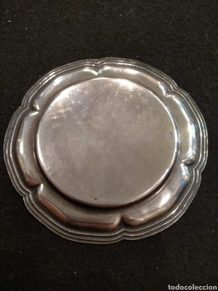 Antigüedades: Plato / bandeja de plata con escudo de la comunidad Tarragona - Foto 2 - 195319767