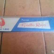 Antigüedades: ANTIGUO PEINE A ESTRENAR - GALLO ROJO - MODELO 1.800. Lote 195321567