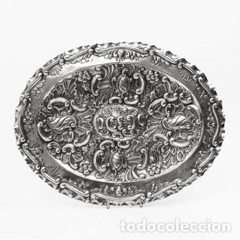 Antigüedades: Juego de tres bandejas de plata estilo Luis XV Rococo Pp.XX - Foto 2 - 195323631
