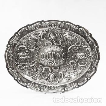 JUEGO DE TRES BANDEJAS DE PLATA ESTILO LUIS XV ROCOCO PP.XX (Antigüedades - Platería - Plata de Ley Antigua)