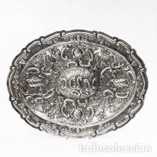Antigüedades: JUEGO DE TRES BANDEJAS DE PLATA ESTILO LUIS XV ROCOCO PP.XX. Lote 195323631
