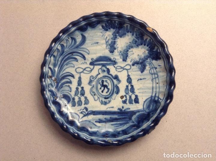 PEQUEÑO PLATO TALAVERA NIVEIRO (Antigüedades - Porcelanas y Cerámicas - Talavera)