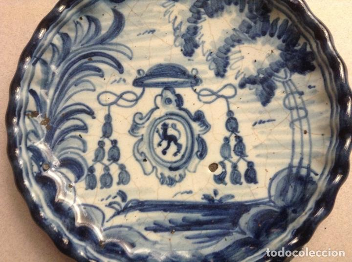 Antigüedades: PEQUEÑO PLATO TALAVERA NIVEIRO - Foto 2 - 195325526