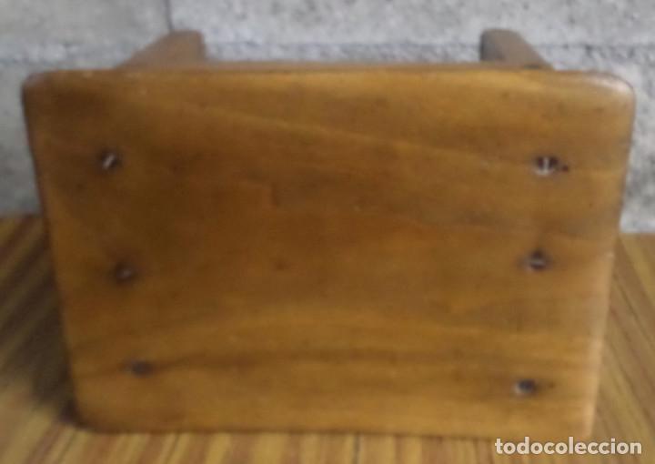 Antigüedades: Banco pequeño -- Creo que de nogal sin polilla - Foto 5 - 195327743