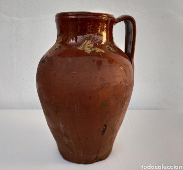ANTIGUO CÁNTARO DE BARRO. (Antigüedades - Porcelanas y Cerámicas - Otras)