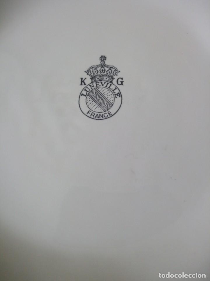 Antigüedades: antiguo macetero de PORCELAINE k g luneville france,años 20/30 - Foto 6 - 195334052