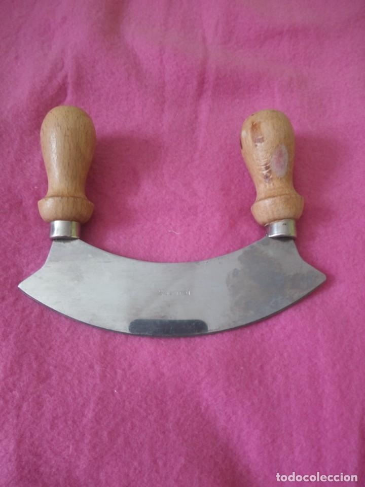 Antigüedades: Antiguo corta quesos rostfrei inox 14 cm - Foto 2 - 195334288