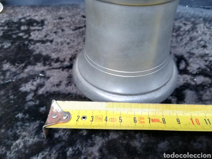 Antigüedades: Vieja azucarera sin estrenar de zinc todavía con el precio en pesetas - Foto 6 - 195338665