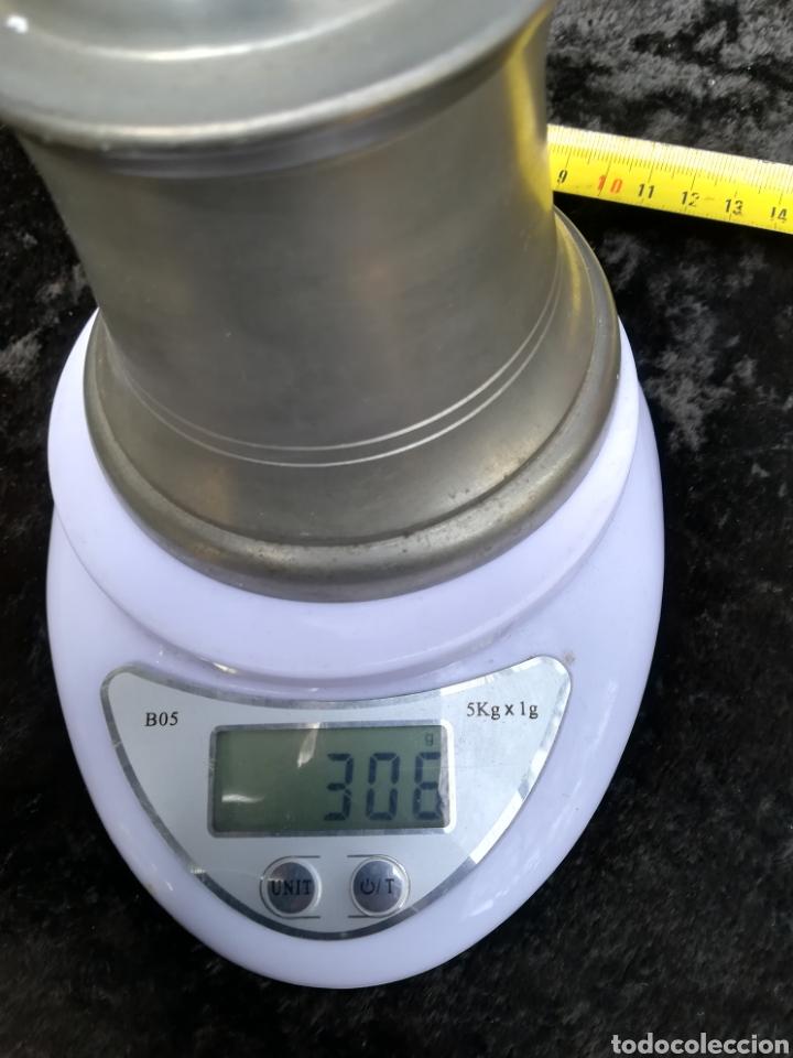Antigüedades: Vieja azucarera sin estrenar de zinc todavía con el precio en pesetas - Foto 7 - 195338665