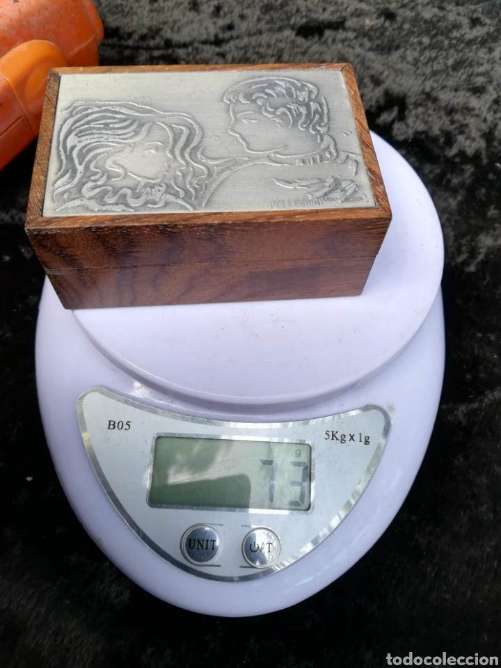 Antigüedades: Pequeña caja con plancha de plata de ley firmado Pellegrini - Foto 7 - 195338858