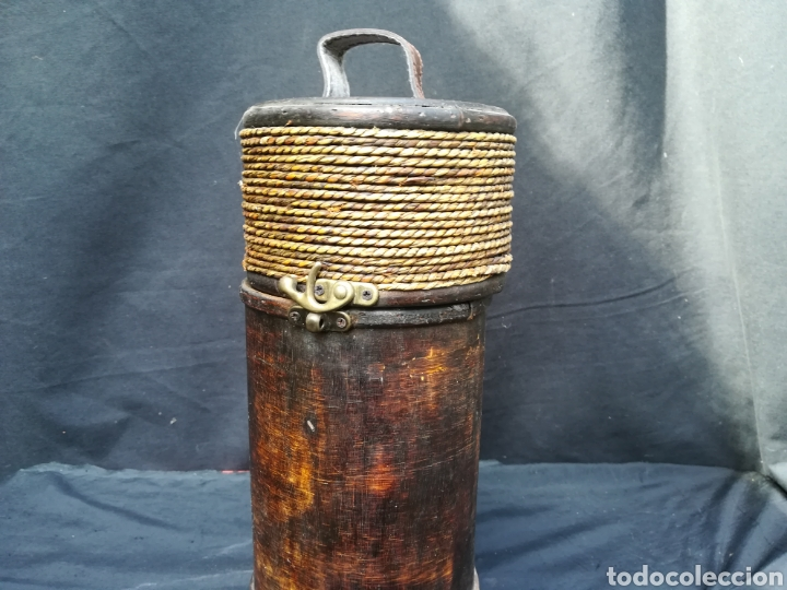 Antigüedades: Funda de madera para botella - Foto 2 - 195339596