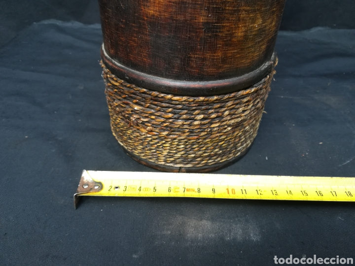 Antigüedades: Funda de madera para botella - Foto 6 - 195339596
