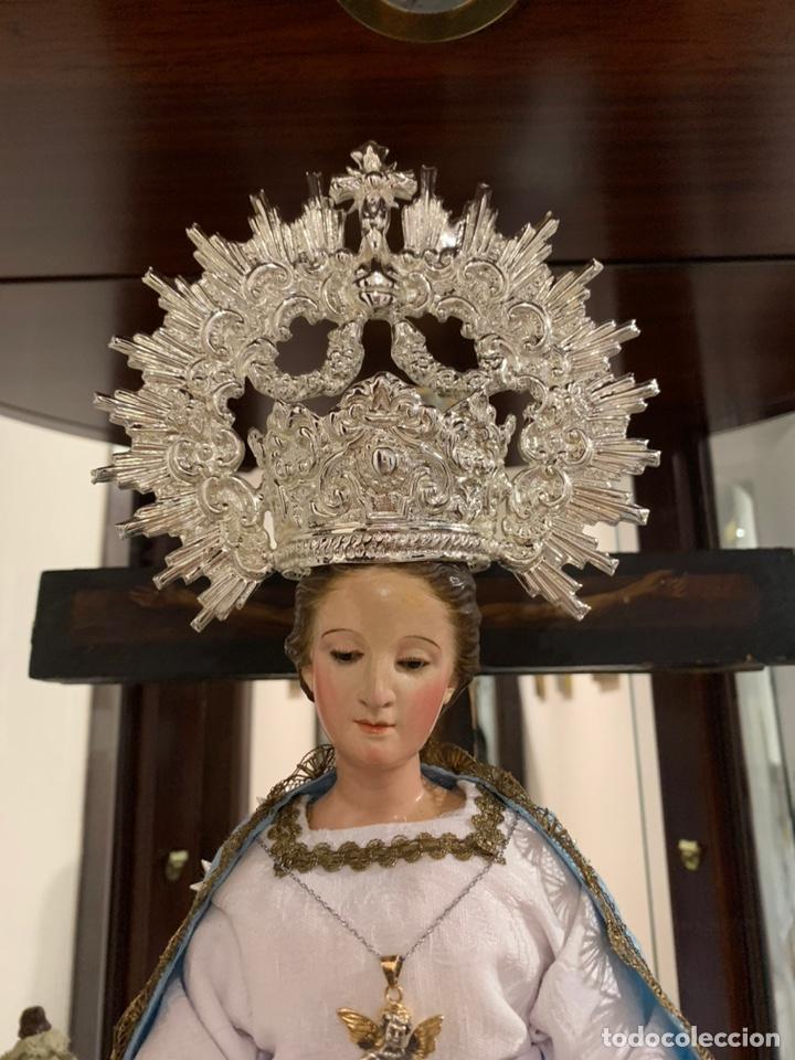 CORONA PARA VIRGEN DOLOROSA Y CAP I POTA (Antigüedades - Religiosas - Orfebrería Antigua)