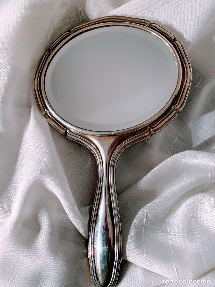 Antigüedades: Juego de plata para tocador. Mediados de S XX. 6 piezas - Foto 3 - 182856675