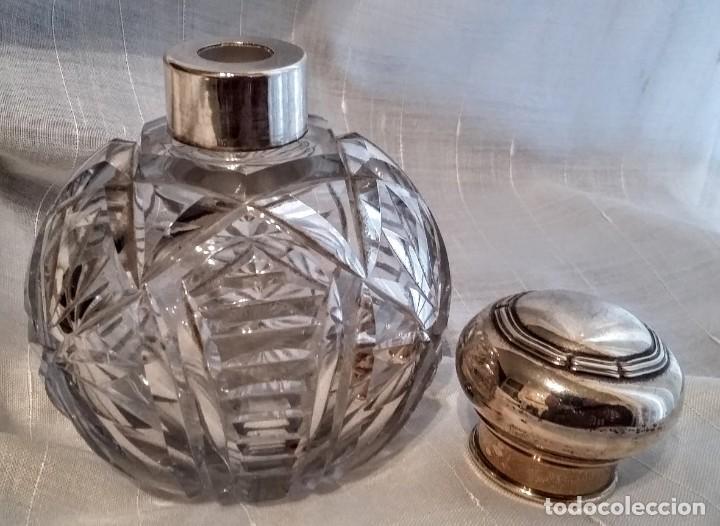 Antigüedades: Juego de plata para tocador. Mediados de S XX. 6 piezas - Foto 10 - 182856675