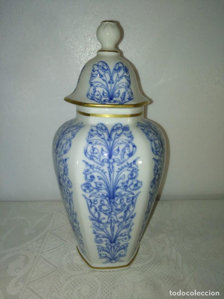 PRECIOSO TIBOR JARRÓN DE PORCELANA DE HISPANIA (Antigüedades - Porcelanas y Cerámicas - Otras)