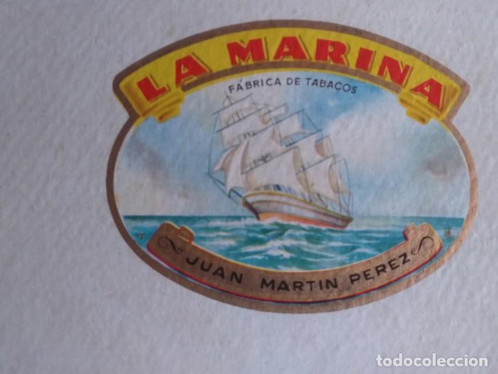 Antigüedades: CAJA DE PUROS LA MARINA ( JUAN MARTIN PEREZ ) - Foto 6 - 195351782