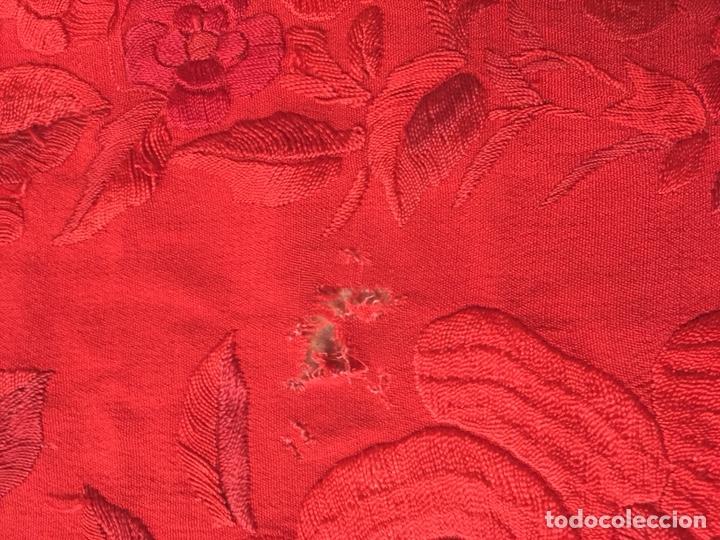 Antigüedades: Antiguo mantón de manila. Con defectos. - Foto 10 - 195353616