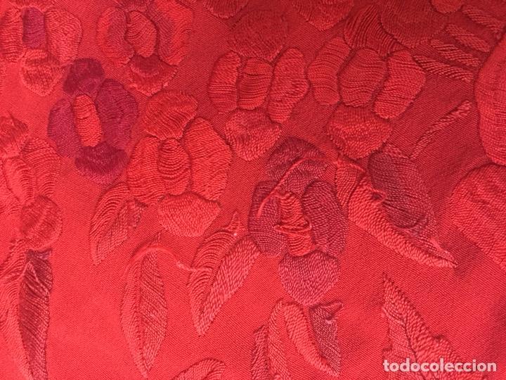 Antigüedades: Antiguo mantón de manila. Con defectos. - Foto 12 - 195353616