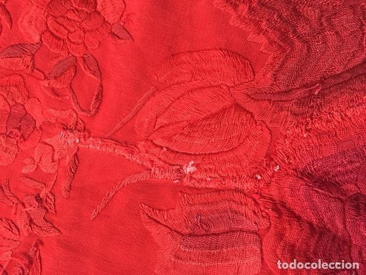 Antigüedades: Antiguo mantón de manila. Con defectos. - Foto 16 - 195353616