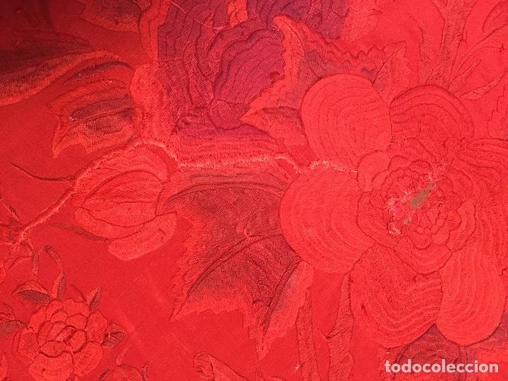 Antigüedades: Antiguo mantón de manila. Con defectos. - Foto 17 - 195353616