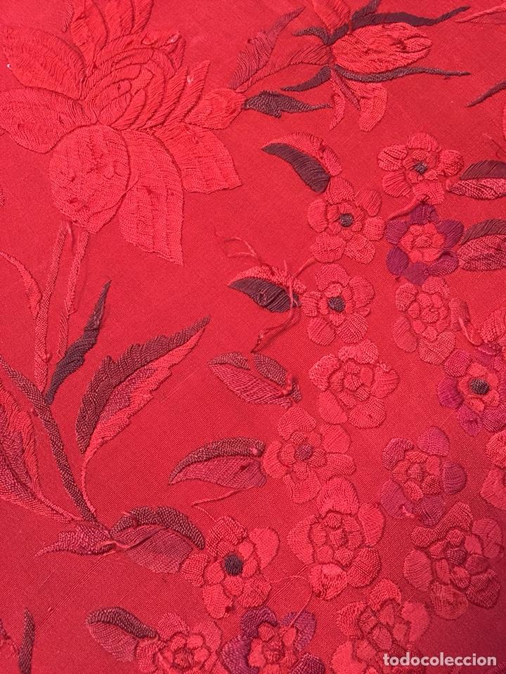 Antigüedades: Antiguo mantón de manila. Con defectos. - Foto 19 - 195353616
