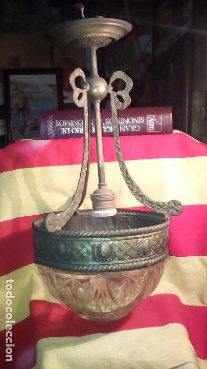 LAMPARA DE TECHO . (Antigüedades - Iluminación - Lámparas Antiguas)