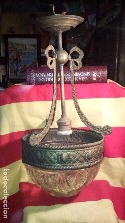 Antigüedades: LAMPARA DE TECHO . - Foto 2 - 195356960