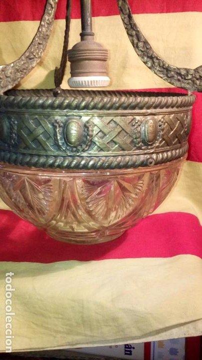 Antigüedades: LAMPARA DE TECHO . - Foto 3 - 195356960