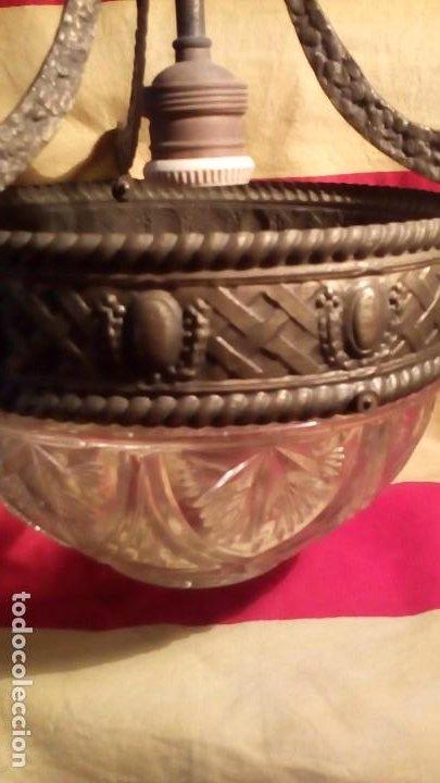 Antigüedades: LAMPARA DE TECHO . - Foto 5 - 195356960