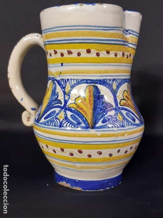 JARRA. CERÁMICA. FIRMADA J.A.M. ALFAR LA PILARICA. SIGLO XX. (Antigüedades - Porcelanas y Cerámicas - Manises)