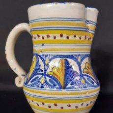 Antigüedades: JARRA. CERÁMICA. FIRMADA J.A.M. ALFAR LA PILARICA. SIGLO XX.. Lote 195361531