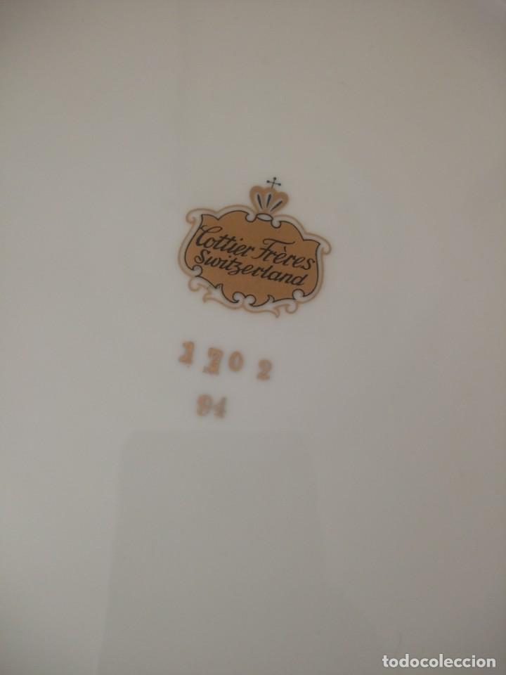Antigüedades: antiguo plato porcelana cottier freres zwitzerland - Foto 4 - 195365601