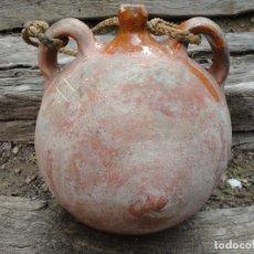 Antigüedades: ALFARERÍA CASTELLANA: CANTIMPLORA DE TORO (ZAMORA). Lote 195366935