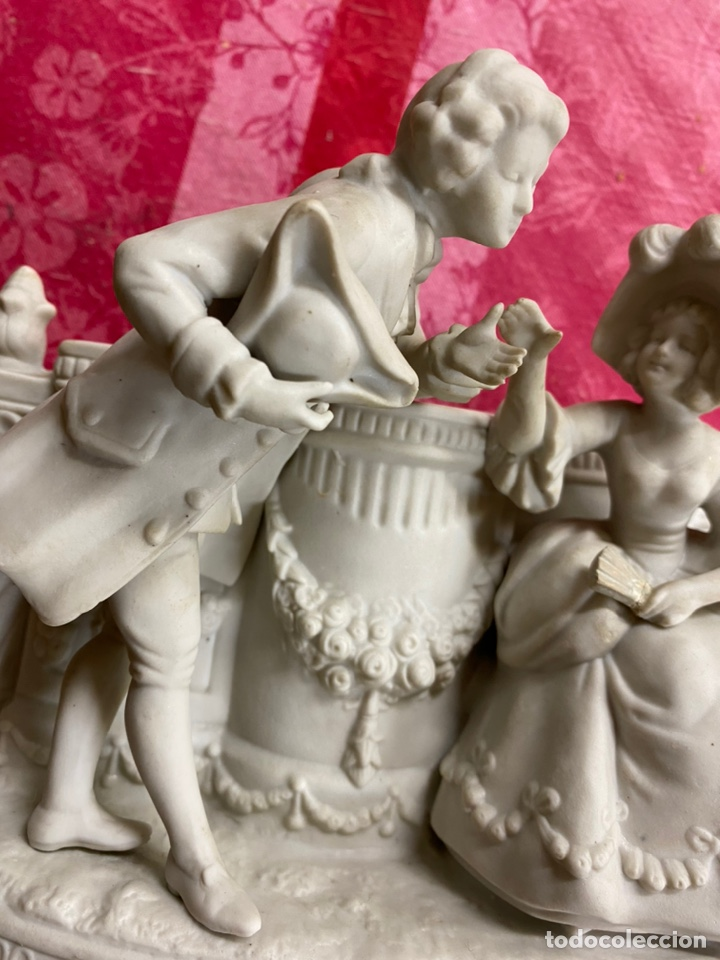 Antigüedades: Porcelana biscuit del siglo XIX medidas 20x12x17 - Foto 3 - 195369055