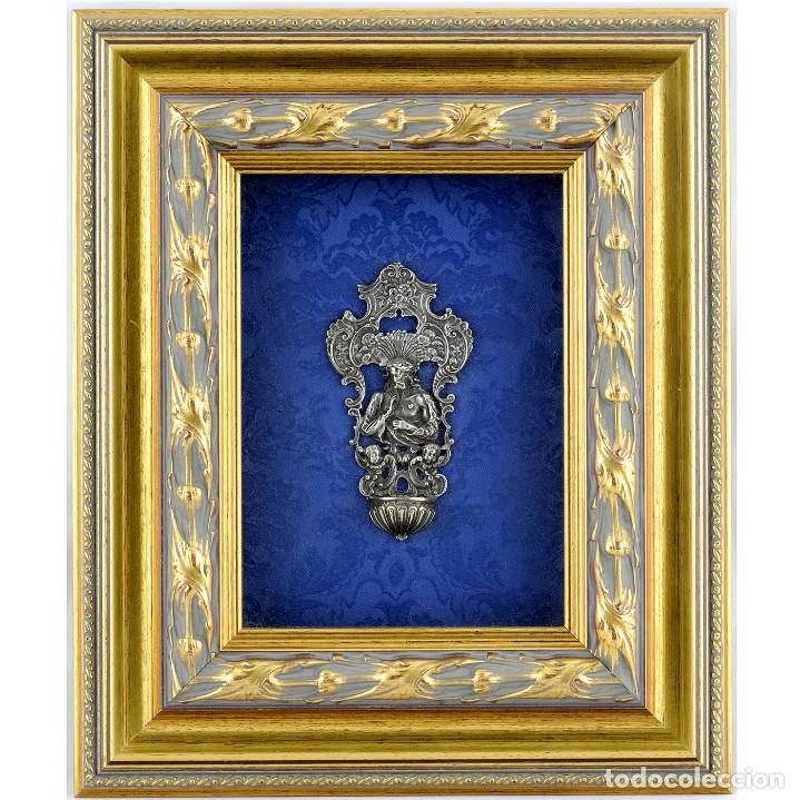 BENDITERA DE PLATA FINA (Antigüedades - Platería - Plata de Ley Antigua)