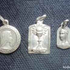 Antigüedades: 3 MEDALLAS PLATA ANTIGUAS LA INMACULADA/N.S.MONTSERRAT. Lote 195369945